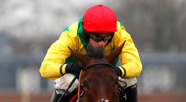Finian's Oscar ridden by Tom O' Brien clears the last before going on to win The Tolworth Hurdle. Photo: Julian Herbert/PA
