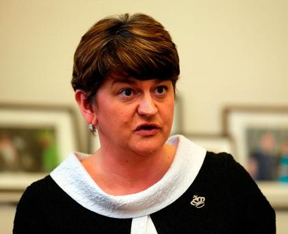 First Minister Arlene Foster Photo: Niall Carson/PA Wire