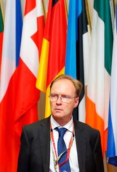 Sir Ivan Rogers, who last week resigned as Britain's ambassador to Brussels, amid suggestions of tension between the mandarins and the Leavers in the Brexit negotiations Photo: REUTERS/Francois Lenoir