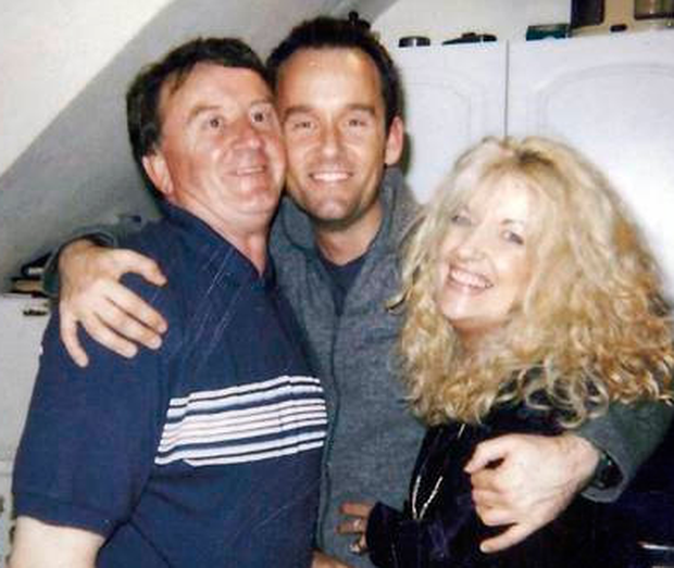 Brendan with his mum Nuala and Dad on his 21st birthday
