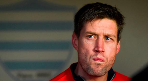 Racing 92 coach Ronan O'Gara prior to the European Rugby Champions Cup Pool 1 Round 1 match between Racing 92 and Munster at the Stade Yves-Du-Manoir in Paris, France. Photo by Stephen McCarthy/Sportsfile