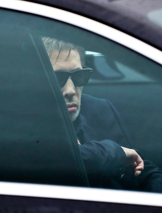 08/01/17 Shane Macgowan pictured at the funeral of Therese MacGowan (mother of Shane MacGowan) at Our Lady of Lourdes Church, Silvermines, Co. Tipperary this afternoon..Picture Colin Keegan, Collins Dublin.