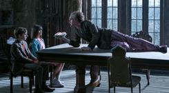 Neil Patrick Harris, Malina Weissman and Louis Hynes in 'A Series of Unfortunate Events'
