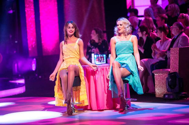 Thalia Heffernan and Aoibhin Garrihy during the Dancing with the Stars Live performance. Picture: Kyran O'Brien