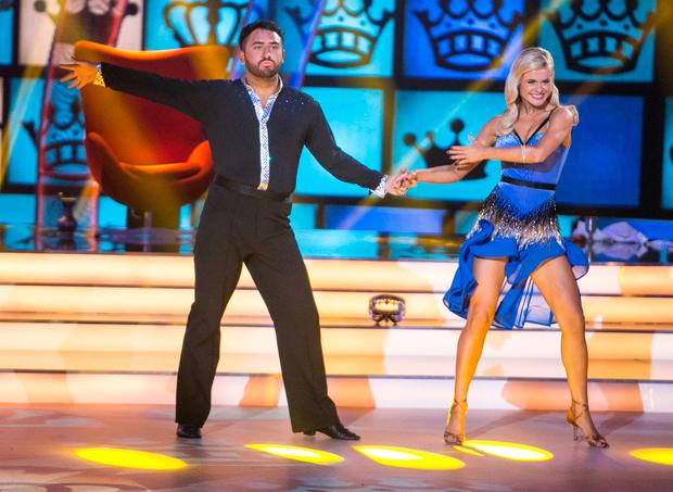 Hughie Maughan and Emily Barker performing during the Live performance of RTE's Dancing with the Stars