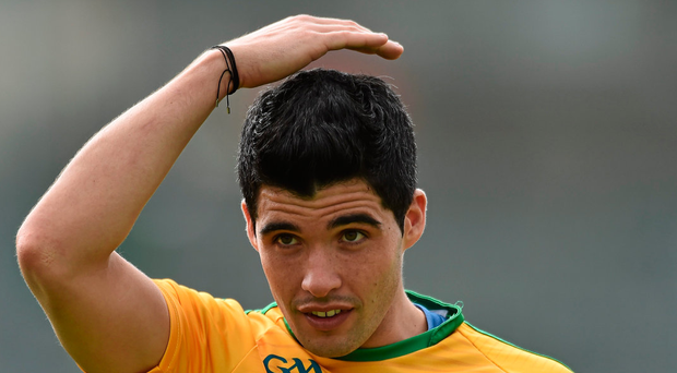 Leitrim's Emlyn Mulligan opened his teams goal tally after three minutes. Photo: David Maher/Sportsfile