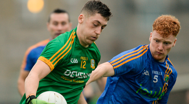 Meath's Paddy Kennelly in action against John Crowe of Wicklow at Páirc Táilteann. Photo: Daire Brennan/Sportsfile