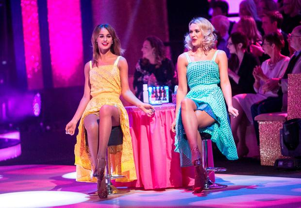 Thalia Heffernan and Aoibhin Garrihy during the Dancing with the Stars Live performance. Photo: Kyran O'Brien