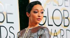 Ruth Negga arrives at the Golden Globes in Beverly Hills, California. REUTERS/Mike Blake