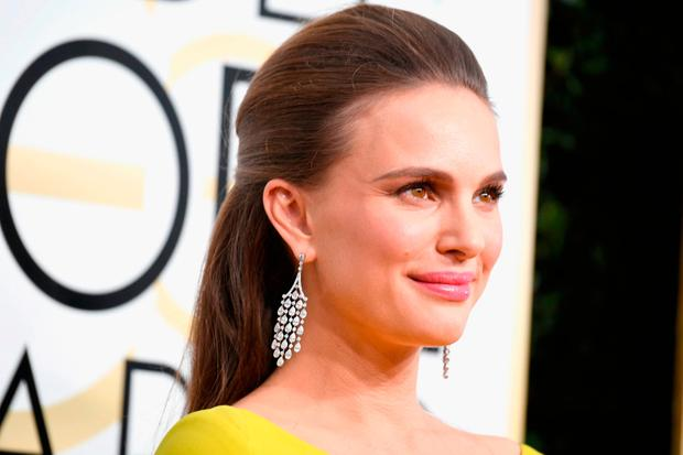 Actress Natalie Portman attends the 74th Annual Golden Globe Awards at The Beverly Hilton Hotel, California. (Photo by Frazer Harrison/Getty Images)