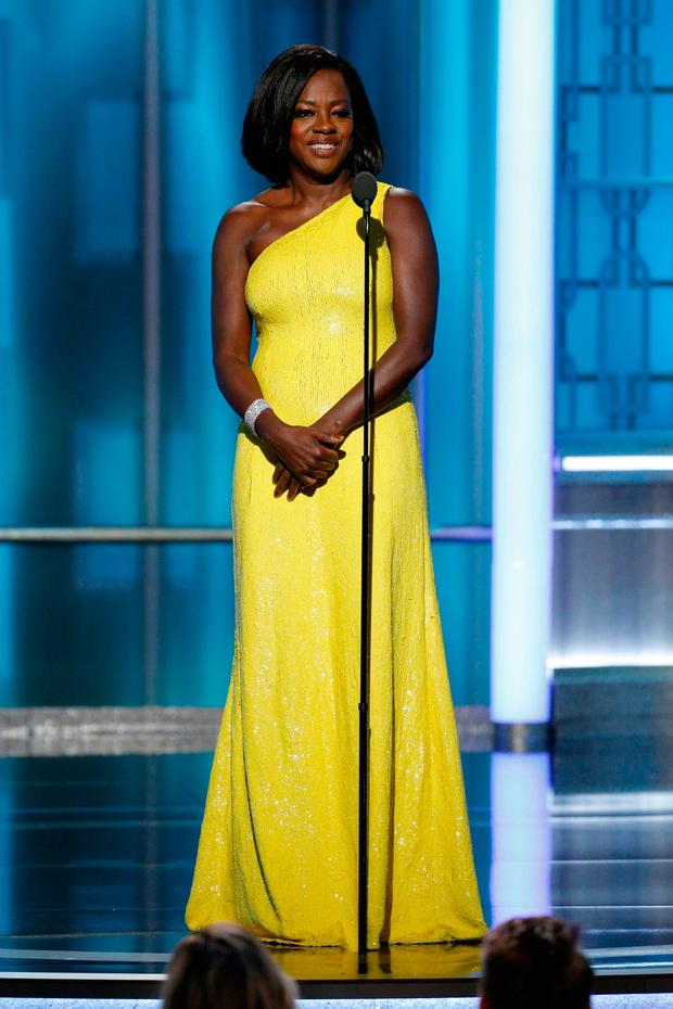 Viola Davis onstage during the 74th Annual Golden Globe Awards at The Beverly Hilton Hotel on January 8, 2017 in Beverly Hills, California. (Photo by Paul Drinkwater/NBCUniversal via Getty Images)
