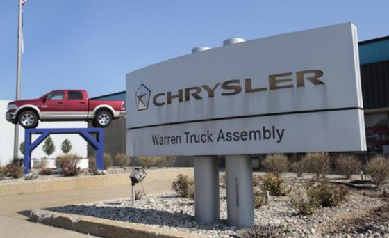 A Chrysler Warren Truck Assembly sign is seen in front of the Fiat Chrysler Automobiles plant in Warren, Michigan October 7, 2015. REUTERS/Rebecca Cook