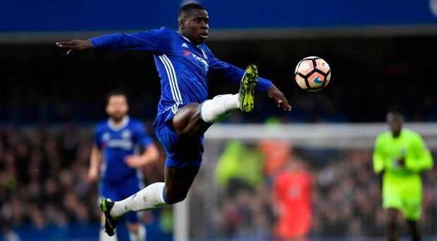 Chelsea's Kurt Zouma in action. Action Images via Reuters / Tony O'Brien