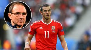 Gareth Bale is on course to be fit to play in the Aviva Stadium in March against Martin O'Neill's (inset) Republic of Ireland