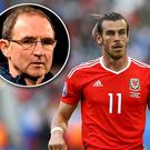 Gareth Bale and (inset) Martin O'Neill