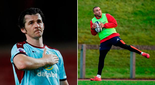 Joey Barton and Simon Zebo were having the craic on Twitter today