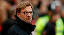 Ronnie Whelan said his 'heart sank' when he saw Liverpool manager Jurgen Klopp on Monday Night Football. Reuters / Andrew Yates