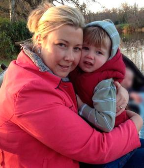 Gillian Treacy and son Ciarán, who was killed by a drunk driver