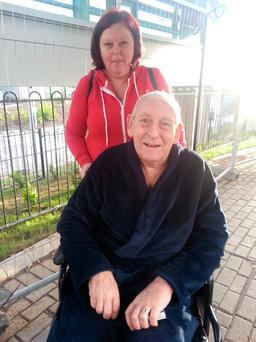 David Rooney (78) with his daughter Lorraine Cummins