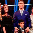 Cristiano Ronaldo with partner Georgina Rodriguez and his son Cristiano Jr. Photo: Getty