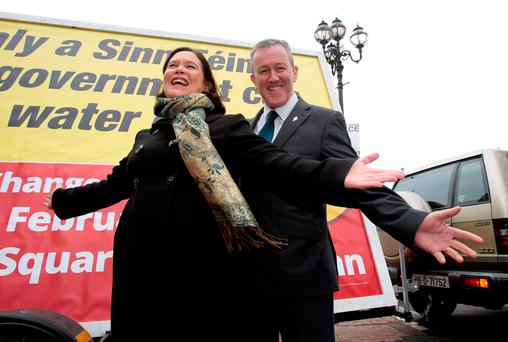 Mary Lou McDonald and Conor Murphy Picture: Tom Burke