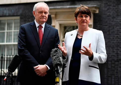 McGuinness called on Foster to stand aside in his signed resignation. Photo: Reuters