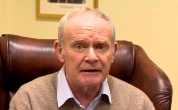 Martin McGuinness announces his resignation as deputy First Minister at Stormont yesterday