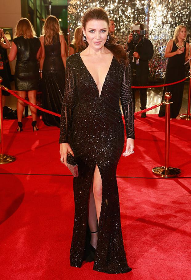 Dannii Minogue arrives at the 57th Annual Logie Awards at Crown Palladium on May 3, 2015 in Melbourne, Australia. (Photo by Scott Barbour/Getty Images)