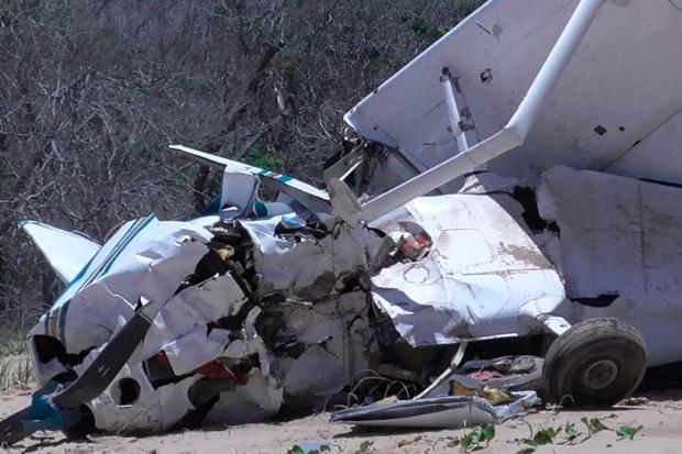 The scene of the plane crash in Queensland in which an Irishwoman was seriously injured.