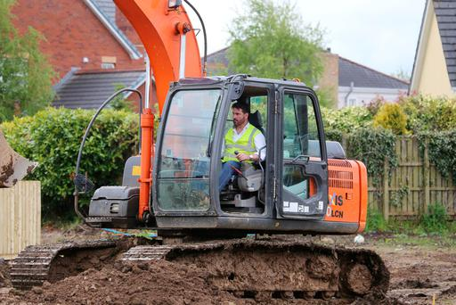 Michael Taggart working on a site in Limavady last year. Photo: North West Newspix