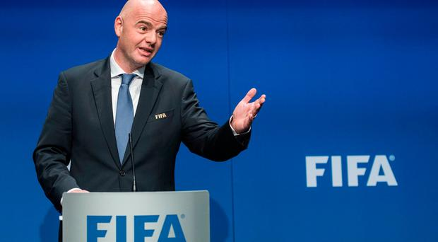 Gianni Infantino, FIFA President. Photo: AP