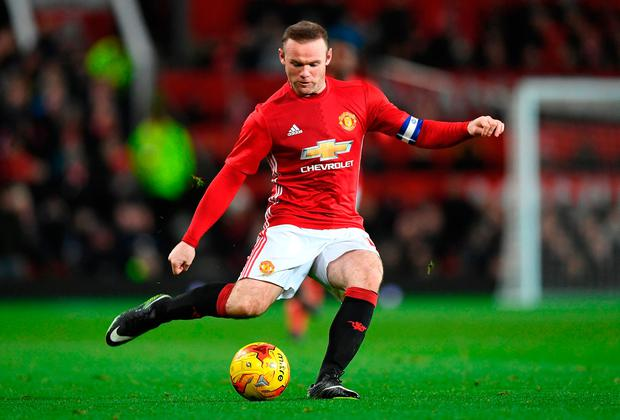 Wayne Rooney powers a shot at goal. Photo: Getty Images