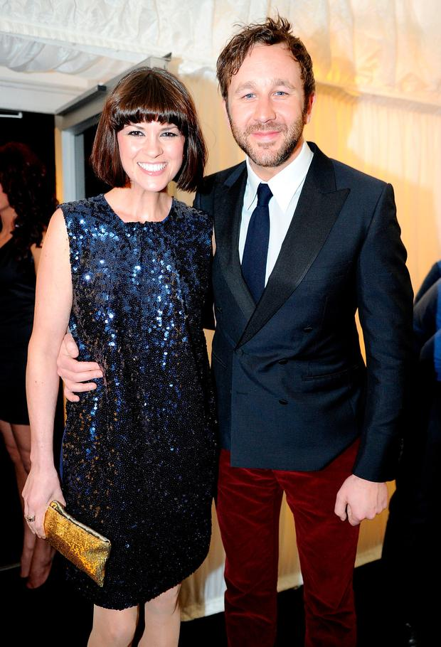 Presenter Dawn Porter and fiance Actor Chris O'Dowd attend Fashion Kicks in aid of Macmillan Cancer Support, Beechwood Cancer Care Centre Stockport and the Chefs Adopt a School Project at Lancashire County Cricket Club on May 1, 2012 in Manchester, England. (Photo by Shirlaine Forrest/WireImage)