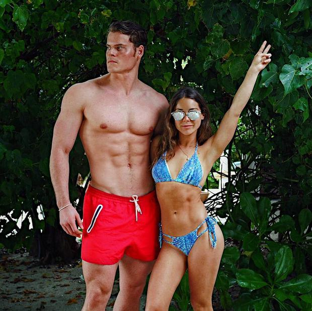 Louise Thompson and boyfriend Ryan Libbey on holidays. Picture: Instagram