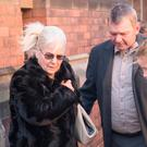 The grandparents of Katie Rough outside York Magistrates Court where a teenager is due to appear charged with the murder of the seven-year-old who was found seriously injured on a playing field. Danny Lawson/PA Wire
