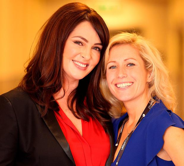 Gráinne Seoige and Norma Sheahan at the Pendulum Business and Self-Empowerment Summit at the National Convention Centre in Dublin. Photo: Gerry Mooney
