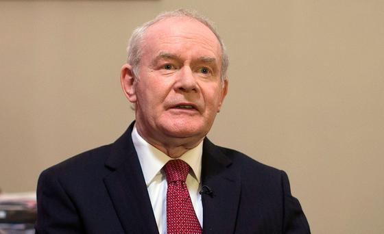 Martin McGuinness: 'We need to get back to the principles of the Good Friday Agreement; equality, partnership and respect. Without these, we do not have genuine power-sharing institutions.' Photo: PA