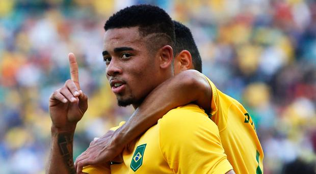 Manchester City's new signing Gabriel Jesus has been praised by Brazilian team-mate Neymar Photo by Buda Mendes/Getty Images