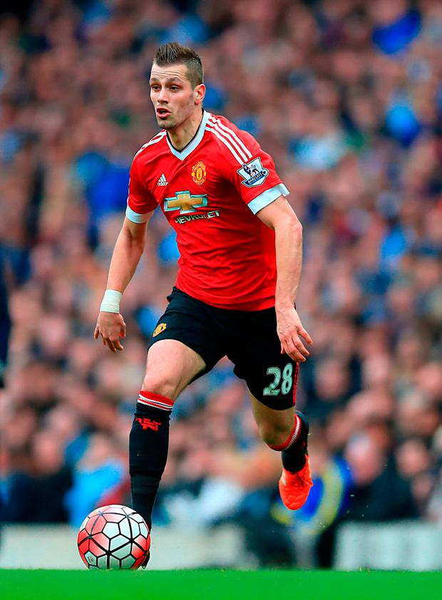 Manchester United midfielder Morgan Schneiderlin has moved to Everton for £22m. Photo credit: Nigel French/PA Wire