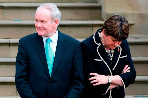 'At first, Mr McGuinness advised Mrs Foster to step aside while a private inquiry took place.' Photo credit: Brian Lawless/PA Wire