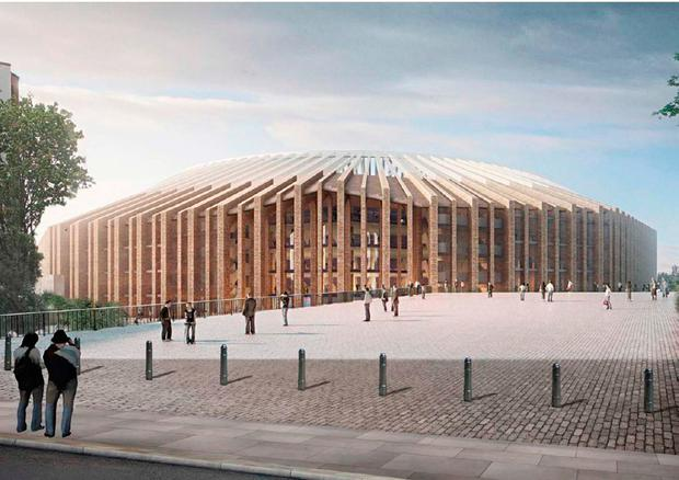 Handout photo provided by Hammersmith and Fulham Council of computer generated image of Chelsea's redevolpment stadium plans. PRESS ASSOCIATION Photo. Issue date: Wednesday January 11, 2017. See PA story SOCCER Chelsea. Photo credit should read: Hussain Nazrul/Herzog and de Meuron/Hammersmith and Fulham Council/PA Wire. NOTE TO EDITORS: This handout photo may only be used in for editorial reporting purposes for the contemporaneous illustration of events, things or the people in the image or facts mentioned in the caption. Reuse of the picture may require further permission from the copyright holder.