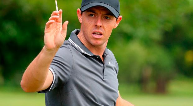 Rory McIlroy of Northern Ireland in South Africa