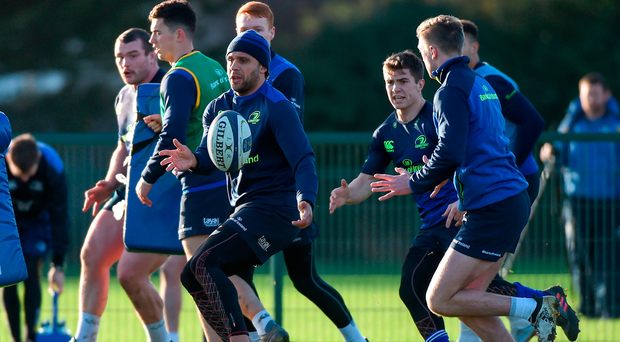 Isa Nacewa of Leinster during squad training at UCD in Belfield