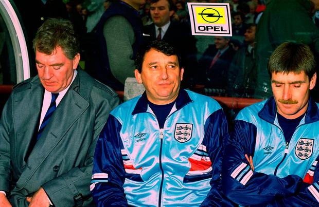 Graham Taylor on the England bench