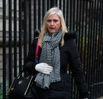 Karen Jepson, of Kelly's Bay Tower, Skerries, Dublin pictured leaving the Four Courts after a Circuit Civil Court action.Pic: Collins Courts
