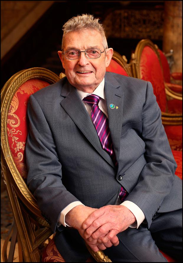 Ted Moynihan who was announced as Kerry Person of the Year at Iveagh House in Dublin. Pic Steve Humphreys