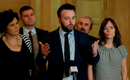 SDLP leader Colm Eastwood said his party would not accept a return to direct rule of Northern Ireland from Westminster, and that only joint authority would be acceptable to nationalists. Photo: Niall Carson/PA Wire