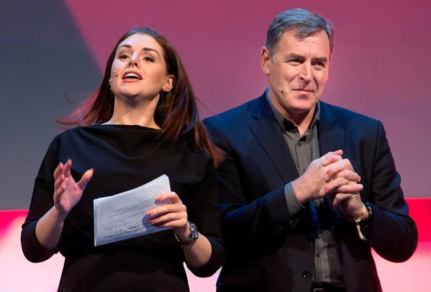 Síle Seoige and Packie Bonner at the Summit yesterday. Photo: Tony Gavin