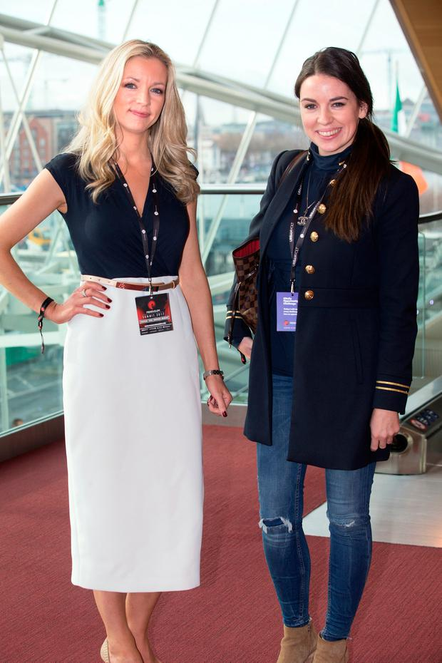 Offaly sisters Anita and Michelle Murray at the Pendulum Summit at the National Convention Centre. Photos: Tony Gavin