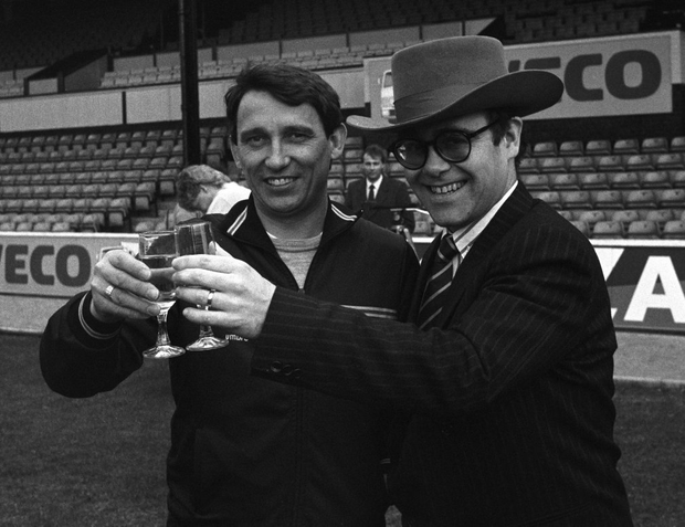 Taylor with then Watford chairman Elton John Photo: Jack Kay/Express/Getty Images